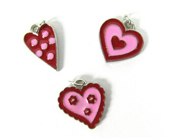 Valentine's Day Charms | Red Hearts Charms | Jewelry Charms | Bracelet Charms | Necklace Charms