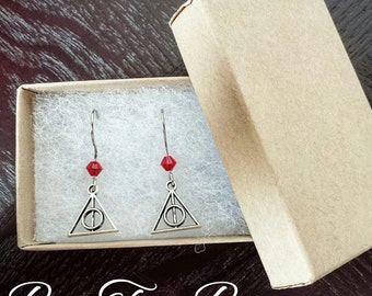 Deathly Hallow Earring | Gryffindor | Harry Potter | Swarovski | Gifts for her