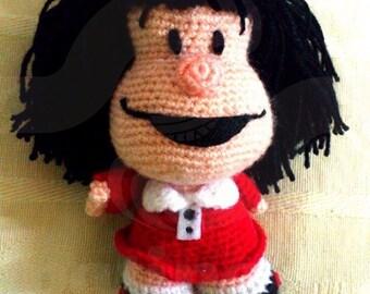 Mafalda - 14cm amigurumi