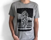 Pinecone T-shirt for man, pine cone shirt, forest shirt, camping shirt, woodland shirt, nature print, snow Graphic Tee, nature men's shirt