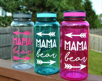 Mama Bear Water Bottle // Gift for New Mom // Mom Gift // Baby Shower Gift for Mom // Gift for Mom // Fit Mom Gift  // Breastfeeding Bottle