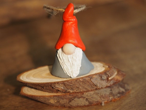 Christmas gnome ornament nordic figurine by paintmydream