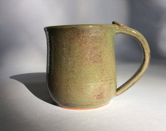 Green Earthenware Mug