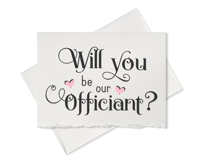 Wedding Officiant Gift Ideas: Will You Be Our Officiant Gift Wedding Officiant Wedding