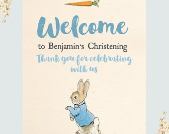 Beatrix Potter Peter Rabbit Welcome Party Sign