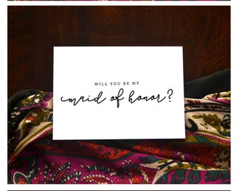 bridal party invitation ||  wedding || bridesmaid || maid of honor || matron of honor