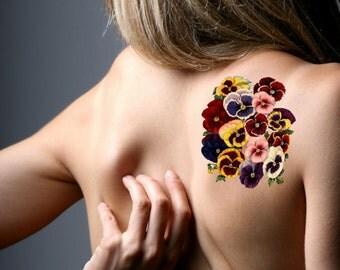 Tatouages et henn etsy fr - Tatouage pensee fleur ...