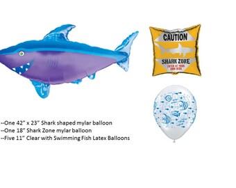 Shark Balloons Set