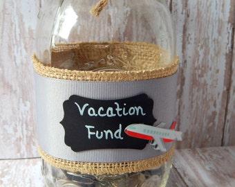 Vacation Fund Bank - Graduation Gift - Coin Jar - Change Jar - Money Jar - Housewarming Gift - Vacation Coin Jar - Wedding Gift