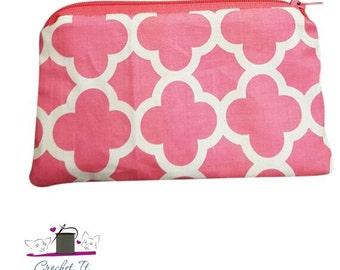 Pink Quatrefoil Coin Pouch