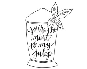 Mint Julep Print - Digital Download