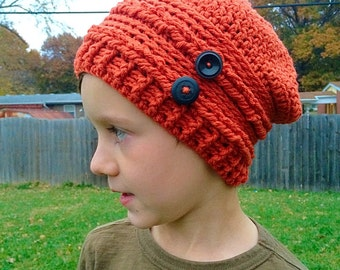 Crochet Child's Slouchy Hat