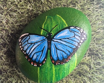 Painted Pebble Butterfly