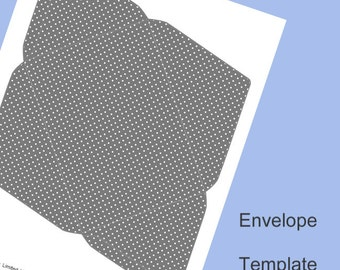 Envelope Template, Digital Download