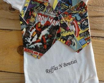 SUPERHERO Vest & Bowtie...CUTOMIZABLE - PERSONALIZABLE - Embroidery...Birthdays...Cake Smashers...Photos