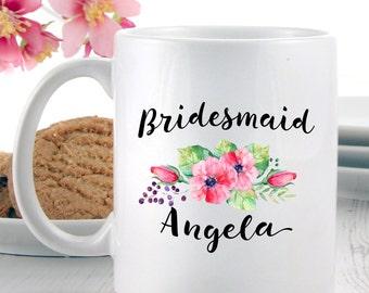 Bridesmaids Gifts | Personalised Mug for Bridesmaid | Coffee Mugs | Tea Mugs | Gift Ideas for Bridesmaids Proposals