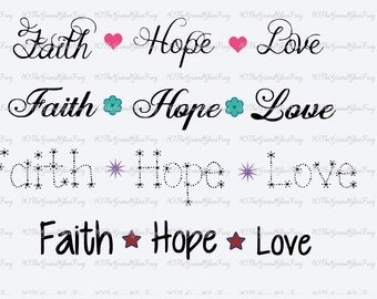 Faith hope love svg(svg110), svg files, clipart, vector, faith svg, hope svg, clipart files