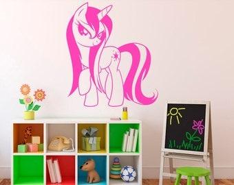 My Little Pony Wall Vinyl Decal Cartoon Pony Wall Sticker Wall Art Decor  Home Interior Kids Part 74