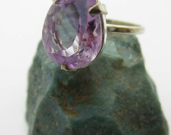 Vintage Amethyst Sterling Silver Ring, size 7.5