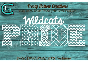 Wildcats Pride cutting file SVG instant download PERSONAL USE only!