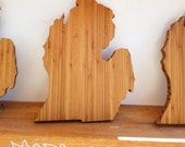 Michigan State Shaped Bamboo Butcher's...