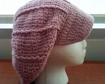 Crochet Slouchy Newsboy Beanie