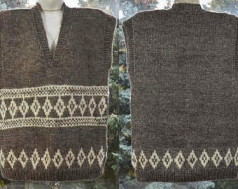 Warm wool Vest to work on a construction site factory or take fishing trip