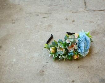 floral headband, floral wreath, flower hair crown,  wedding crown