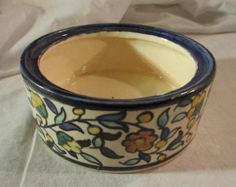 Rare 1920's -30's Karakashian Balian Armenian Jerusalem Pottery  -- Middle Eastern Bowl With Flower Design
