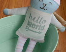 LIMITED EDITION! Pink Lace Theme Gigi and Max (c) Matching Hello World Bunny