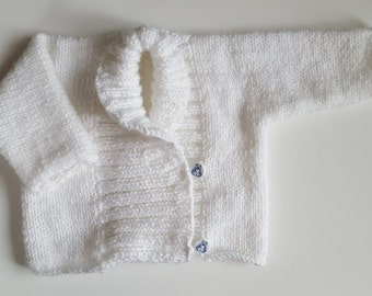 Newborn baby girl or baby boy sweater