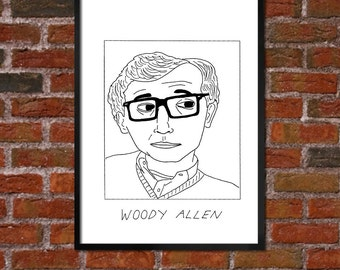 Badly Drawn Woody Allen - Poster