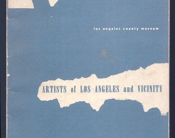 Rare Book Artists of Los Angeles LACMA Los Angeles County Museum 1953 Annual Exhibition Artists of Los Angeles and Vicinity