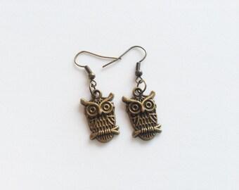 OWL Earrings Owl Jewelry Owl Gift Bird Jewelry Bird Earrings Bird Gift Gift for Owl Lovers Animal Jewelry Animal Earrings Animal Gift Zoo