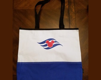 Disney Cruise Line DCL Inspired Tote Bag Optional Personalization Fish Extender FE Gift  2 Color