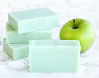 Apple Soap - Green Apple Teacher Gifts - Teacher Appreciation - Parent Gifts - Children's Soap - Kids Soap - Spring Green Soap - Red Apple