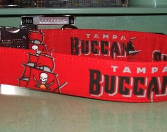 """Tampa Bay Buccaneers Dog Collar - Large (15"""" - 23"""") - Free Shipping"""