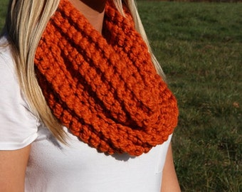 Pumpkin Orange Infinity Scarf