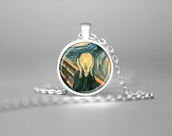 THE SCREAM NECKLACE The Scream Pendant Edward Munch's Painting The Scream Jewelry Famous Art The Scream Art Pendant Fine Art Necklace Gift