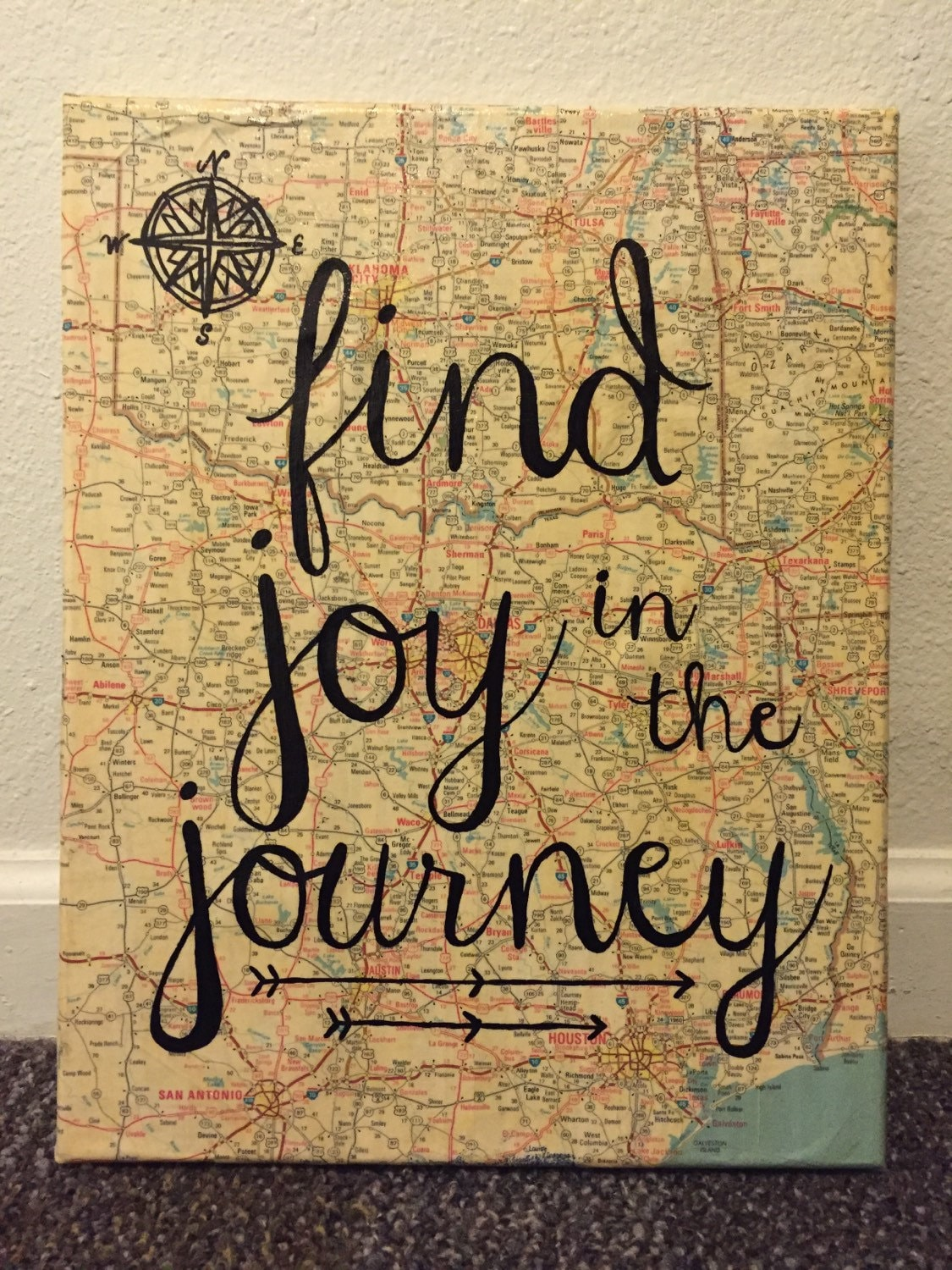 Find joy in the journey canvas by christyscreations411 on etsy