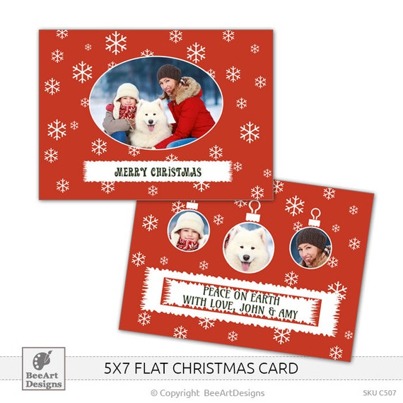 5x7 postcard mailing template - items similar to instant download 5x7 christmas flat