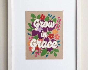 Grow In Grace Papercut