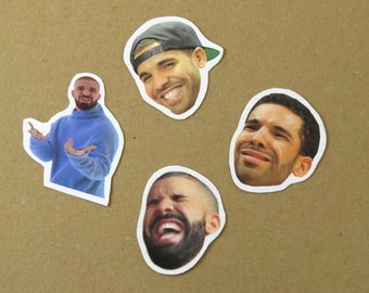Drake stickers - funny drake faces - celebrity stickers - hotline bling - drizzy sticker