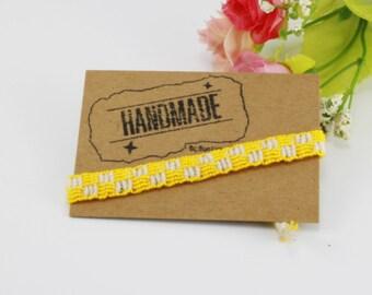 Friendship Bracelets Cotton woven Handmade 100% .