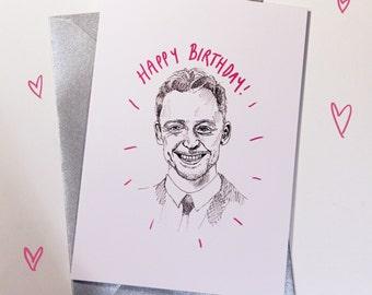 Tom Hiddleston Birthday Card