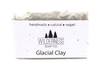 Glacial Clay Soap, Natural Soap, Vegan Soap, Palm Free Soap, Handmade Soap, Cold Process Soap