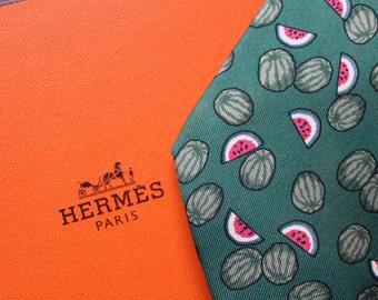 Tie  Hermès, pattern : watermelon (with box)