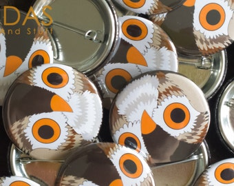 Owl - 38mm Badge