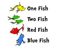 Dr Seuss Coloring Pages One Fish Two  RedCabWorcester