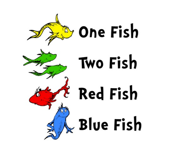 One fish two fish red fish blue fish printables www for Red fish blue fish dr seuss